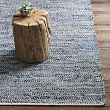 recycled denim jute rug west elm