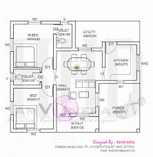 floor plan below sqft kerala home free plans low cost housing