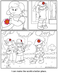 make a coloring page the child make a cake chocolate coloring page