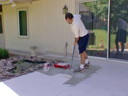 How To Paint Outdoor Concrete Patio How To Stain Concrete How Tos Diy