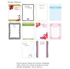 wedding program paper kits diy designer program fan kit wedding fans destination