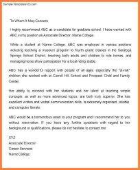 letter of recommendation for graduate teaching program cover