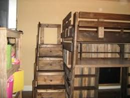 Plans For Loft Beds With Stairs by Loft Bed With Desk Toy Box U0026 Dresser Drawer Stair Case By