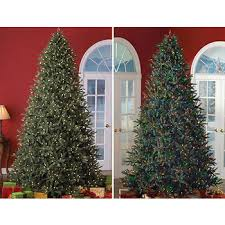 sylvania 9 led color changing oneplug artificial tree