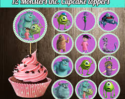 monsters inc cake toppers monsters inc toppers etsy