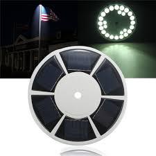 bright night solar lighting solar power flag pole waterproof ip67 26 led solar light battery