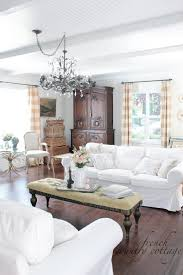 cottage livingrooms white slipcovers french country cottage