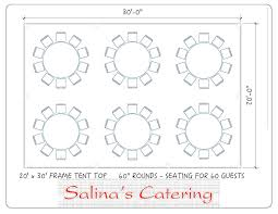 5 foot round table here is a top view of a basic tent layout of a 20x30 tent this