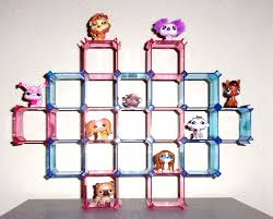 toys hobbies littlest pet shop find offers online and compare littlest pet shop wall or counter display holds 28 pets in pink blue