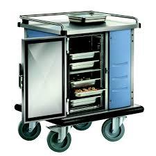 chariot chauffant cuisine chariot de service repas électrique astelos