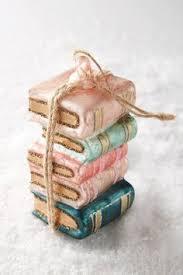 librarian book stack ornament ornament and books