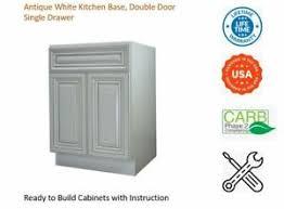 antique white usa kitchen cabinets details about antique white kitchen base cabinet single drawer door
