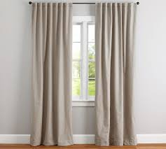 What Type Of Fabric For Curtains Cotton Basketweave Drape Pottery Barn