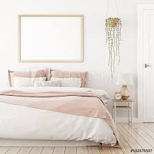 home bedroom interior design photos interior poster mock up with horizontal frame on the wall in home