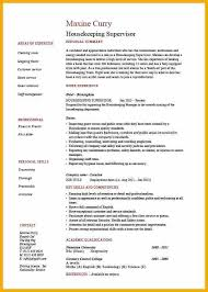 Housekeeper Resume Sample by Resume Examples For Housekeeping Seem Shipment Ml