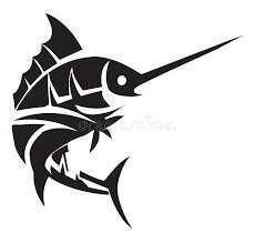 marlin tattoo kuta marlin fish tattoo stock vector illustration of isolated 47878987