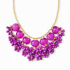 purple necklace images Cluster drop necklace purple bib necklace with hanging bead jpg