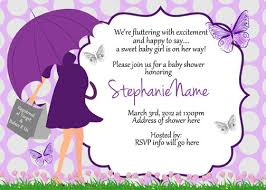 butterfly baby shower umbrella invitations digital print as many