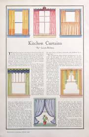 vintage 1930s kitchen curtains illustrations featuring stylish