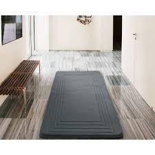 30 X 60 Bath Rug Vcny Hotel Bordered Foam Cushioned Microfiber Bath Rug 24 X 60