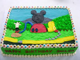Mickey Mouse Clubhouse Bedroom Set Mickey Mouse Clubhouse Buttercream Sheet Cake Holidays 6