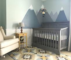 Baby Boy Nursery Decor by Nursery Decor Modern Nursery With Mountains And Tribal Print