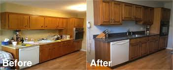 Refacing Kitchen Cabinet Only Then Creative Before And After Refacing Kitchen Cabinets