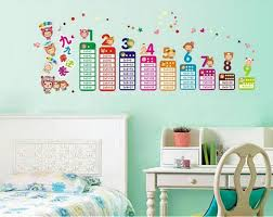 Buy Decals Arts Multiplication Table Adhesive Kids Rooms Wall - Kids rooms decals