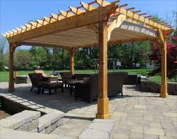Picturesque Cedar Wood Patio Cover For Square Pergola Plans With - Backyard shelters designs