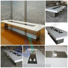 white marble top conference table size customized meeting desk