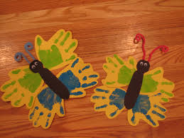spring butterfly handprint craft preschool crafts for kids