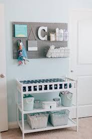 Baby Changing Table Ideas Calvin S Modern Blue And Gray Nursery Nursery Organization