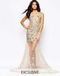 a star is born sequin embellished mesh maxi dress in metallic lyst