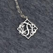 3 initial monogram necklace silver best 25 monogram necklace silver ideas on monogram