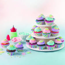 Where To Buy Cake Decorating Supplies Cupcake Holder Stand Tower Lollipop Display Plastic White Carrier
