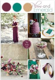 plum wedding plum and emerald wedding ideas link