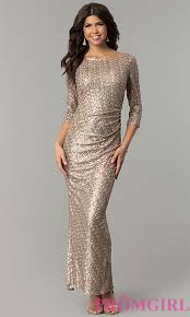 gold party dress sleeved gold sequin party dress promgirl