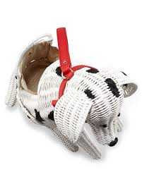 kate spade new york rose colored glasses wicker dalmatian purse