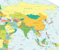 Map Of India And Nepal by Asia Map China Russia India Japan Travelchinaguidecom Map Of