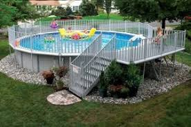 landscaping after you install an above ground pool teddy bear