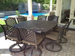 Outside Patio Dining Sets - nassau cast aluminum powder coated 9pc outdoor patio dining set