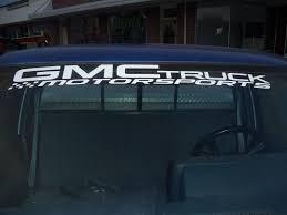 Ford Diesel Truck Decals - product gmc truck motorsports windshield topper window decal sticker