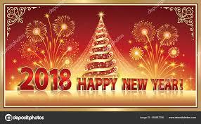 happy new year post card postcard happy new year 2018 stock vector seriga 168987256