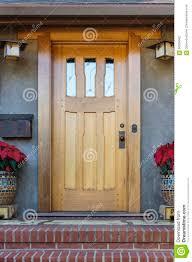 Front Door by Solid Wood Front Door Stock Photo Image 66539962