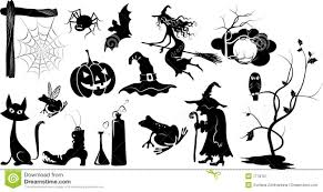 Halloween Vector Art Set Of Isolated Vector Halloween Silhouettes Royalty Free Stock