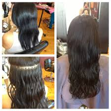 Before After Hair Extensions by Micro Bead Extensions Before And After Last Up To 6 Months Hair