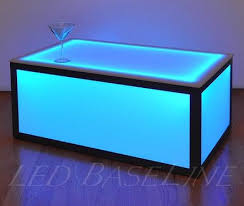 Cube Coffee Tables 16 Color Changing Cube Coffee Table Display Glass