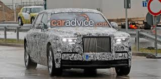 wrapped rolls royce rolls royce phantom spied without false body panels