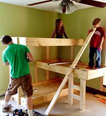 diy bunk bed plans bed plans diy u0026 blueprints