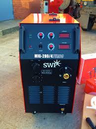 swp redline mig 280 4 turbo mig welding machine